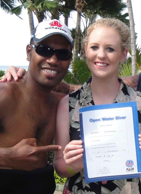 PADI Certified Open Water Diver Diveaway Fiji