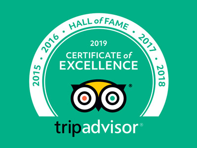 Trip Advisor 219 Certificate of Excellence